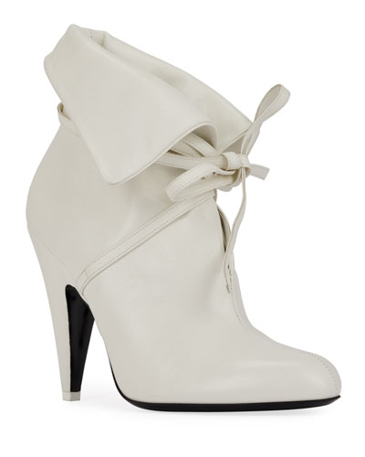 105mm Ankle-Tie Cuff Booties