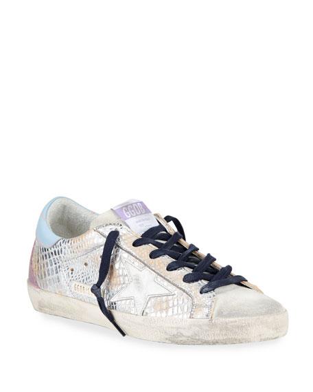 Golden Goose Superstar Metallic Mock-Croc Sneakers
