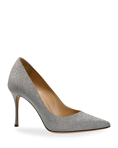 Godiva Glitter Stiletto Pumps