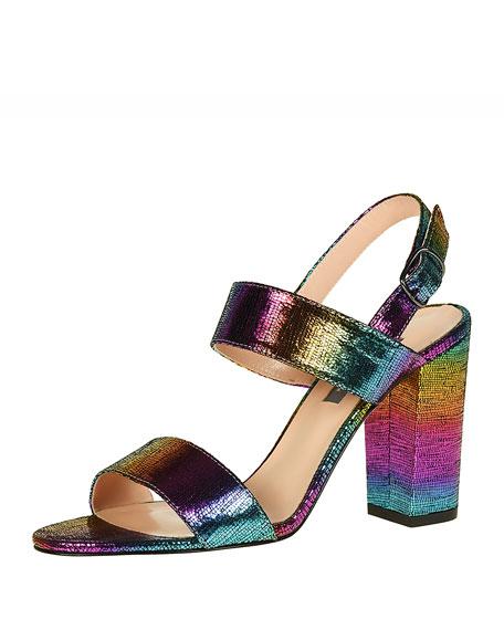 SJP by Sarah Jessica Parker Meet Metallic Rainbow Slingback Sandals