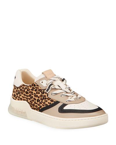 Citysole Leopard-Print Court Sneakers