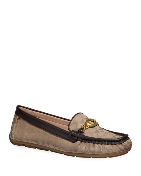 Coach Maegan C Chain Driver Loafers