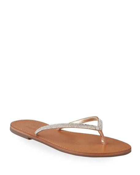 Schutz Helvia Crystal Thong Sandals