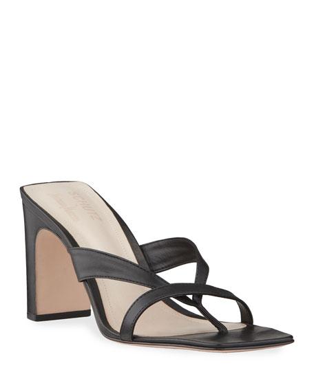 Schutz Allile Mid-Heel Thong Sandals