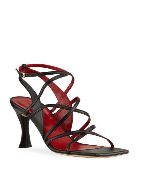 BY FAR Christina Pedestal-Heel Gladiator Sandals