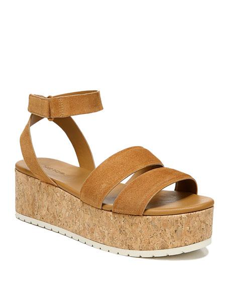 Vince Jet Suede Platform Sandals