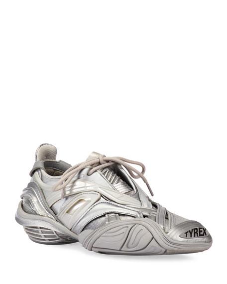 Balenciaga Tyrex Metallic Chunky-Heel Sneakers