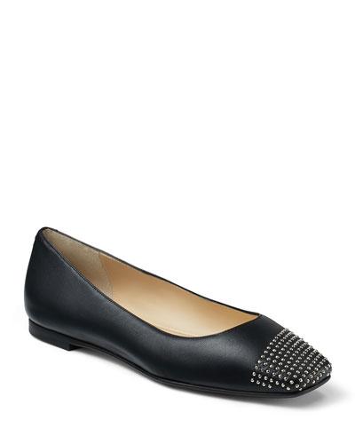Davia Studded Ballerina Flats