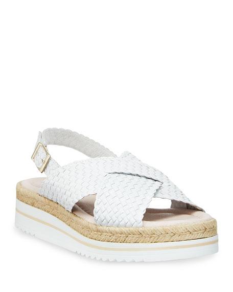 Sesto Meucci Skyla Woven Espadrille Sandals, White