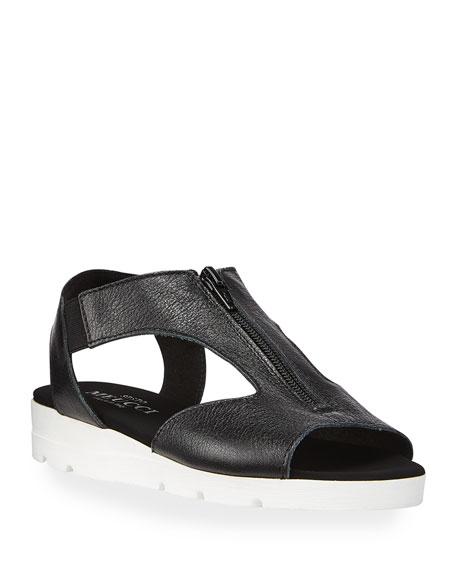 Sesto Meucci Silas Comfort Metallic Zip Sandals