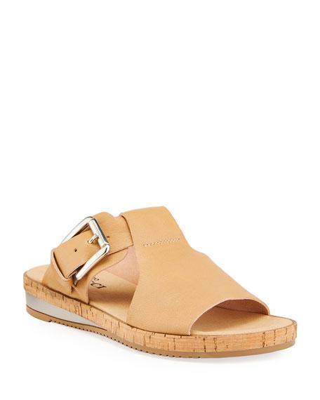 Sesto Meucci Sacha Easy Comfort Leather Cork Slide Sandals