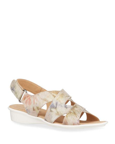 Sesto Meucci Easton Multicolored Comfort Wedge Sandals