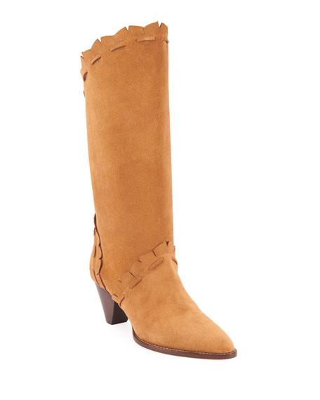Isabel Marant Leesta Topstitch Cone-Heel Boots