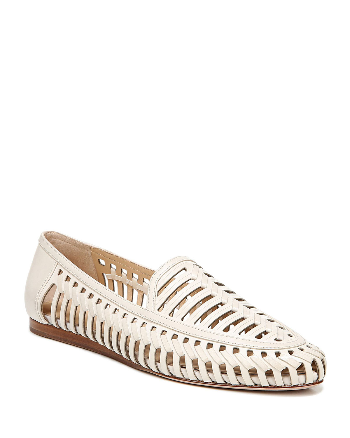 Greece Woven Leather Flat Loafers