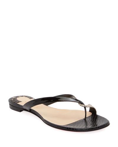 Mini Meyer Flat Red Sole Sandals