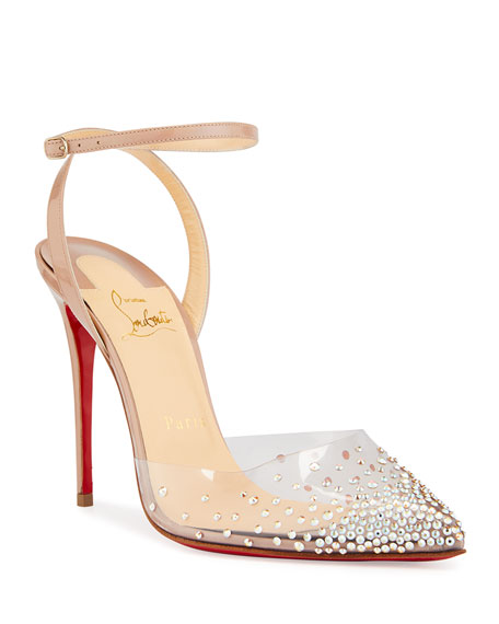 Christian Louboutin Spikaqueen 100 Red Sole Pumps