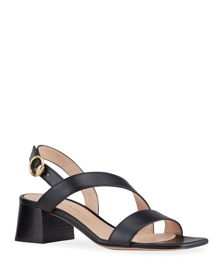 Gianvito Rossi 45mm Asymmetrical Slingback Sandals