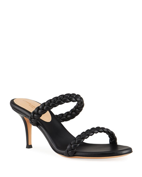 Gianvito Rossi 70mm Braided 2-Band Slide Sandals