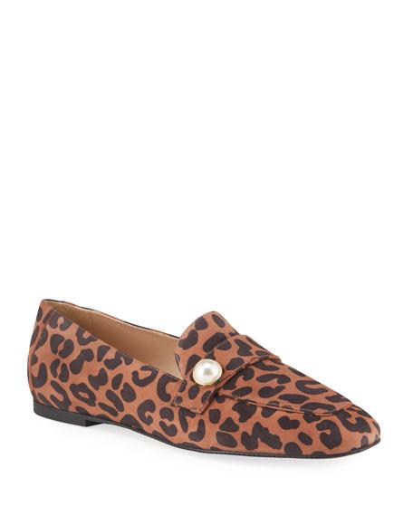 Stuart Weitzman Payson Pearl Leopard Loafers