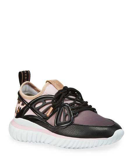 Sophia Webster Fly By Colorblock Trainer Sneakers