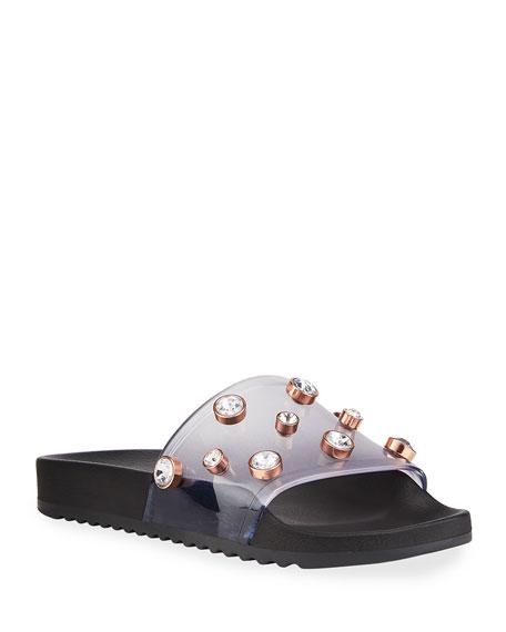 Sophia Webster Dina Flat Pool Slide Sandals