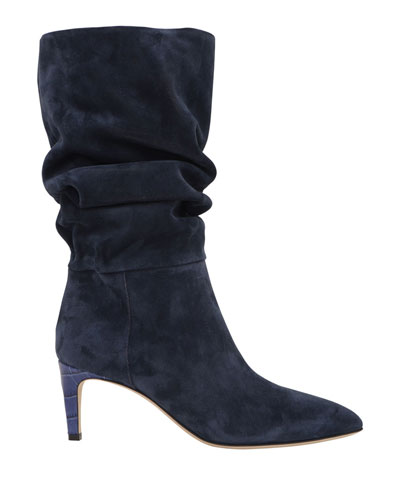 Pull On Suede Boot   Neiman Marcus