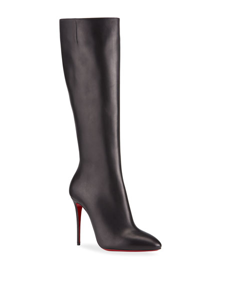 Christian Louboutin Eloise Zip Red Sole Boots