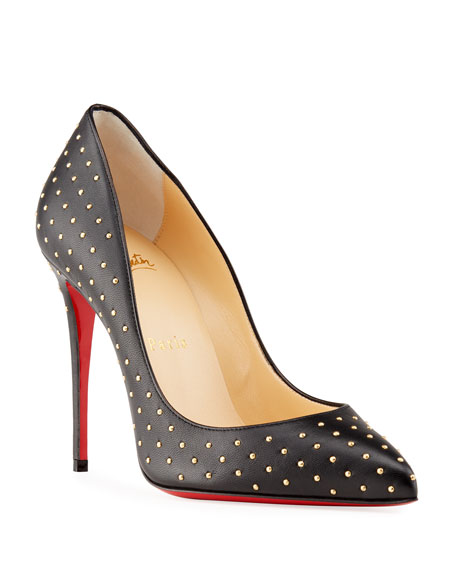 Christian Louboutin Pigalle Follies Stud Leather 100mm Red Sole Pumps