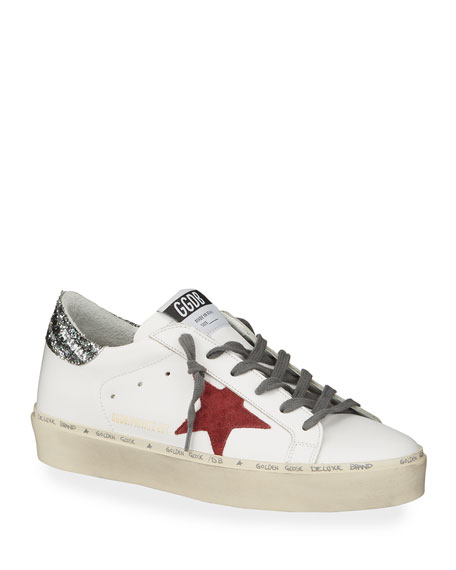 Golden Goose Hi-Star Glitter Low-Top Sneakers