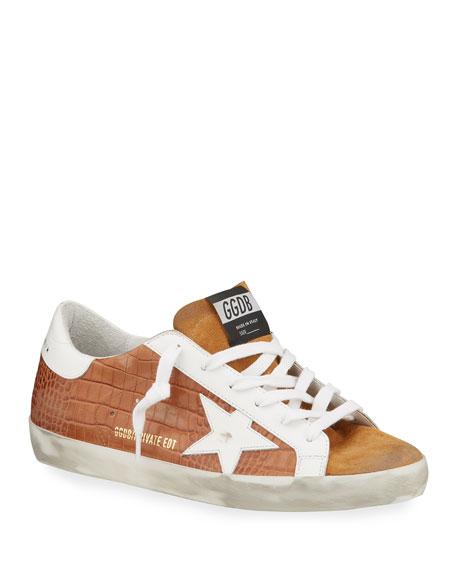 Golden Goose Superstar Mock-Croc Court Sneakers