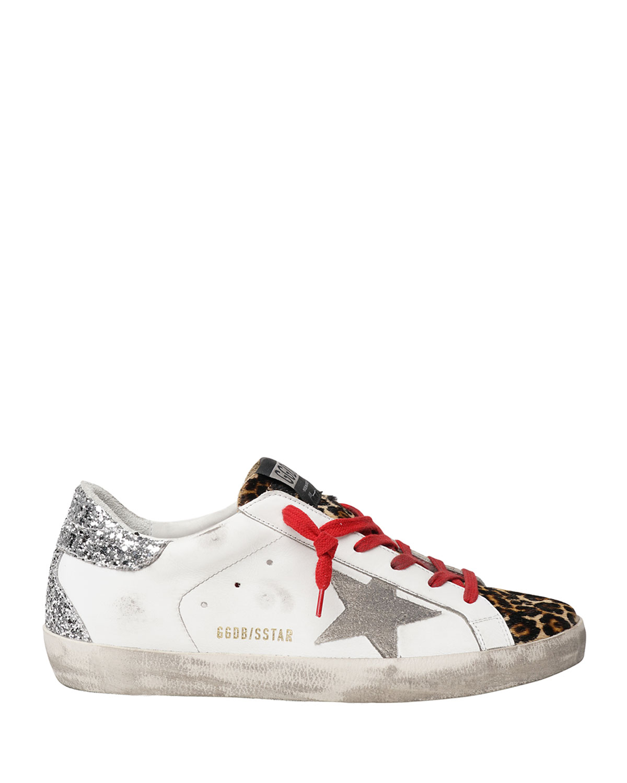 Superstar Leopard-Print Court Sneakers