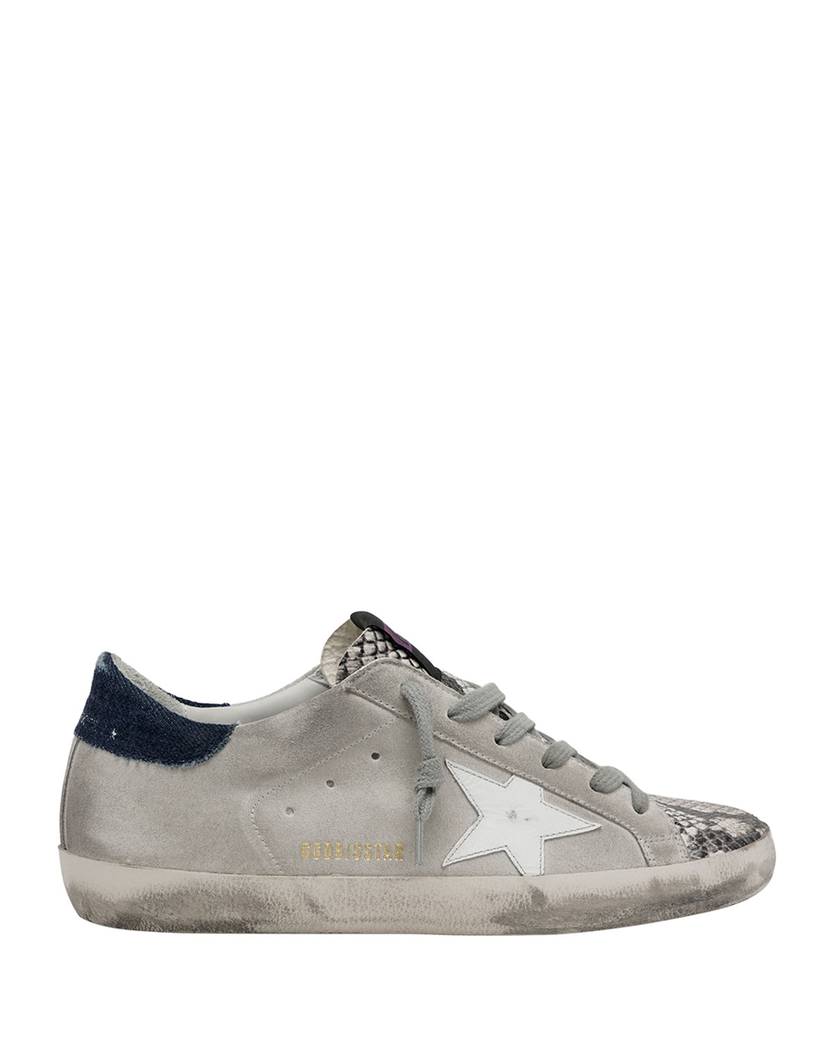 Superstar Python-Print Suede Sneakers
