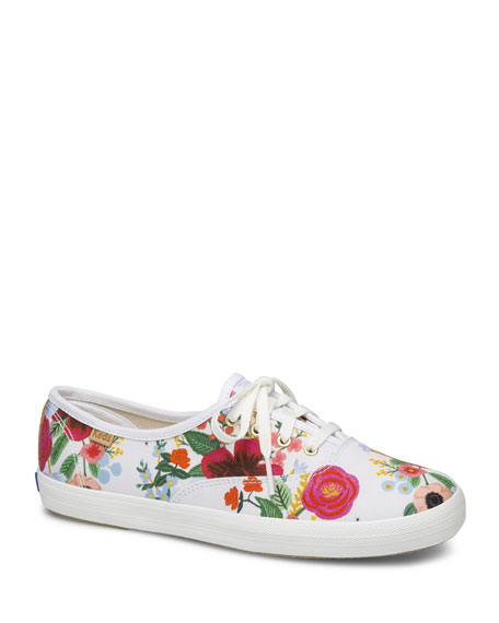 Keds Champion Wild Rose Floral Low-Top Sneakers