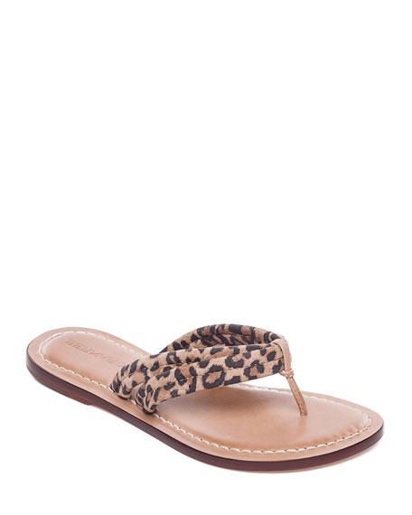 Bernardo Miami Cheetah Thong Sandals