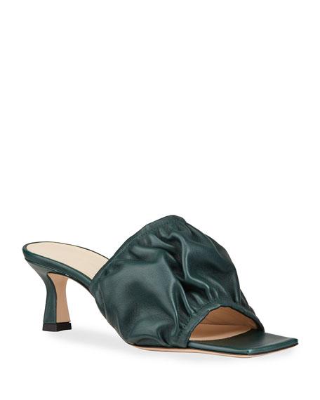 Wandler Ava Kitten-Heel Slide Sandals