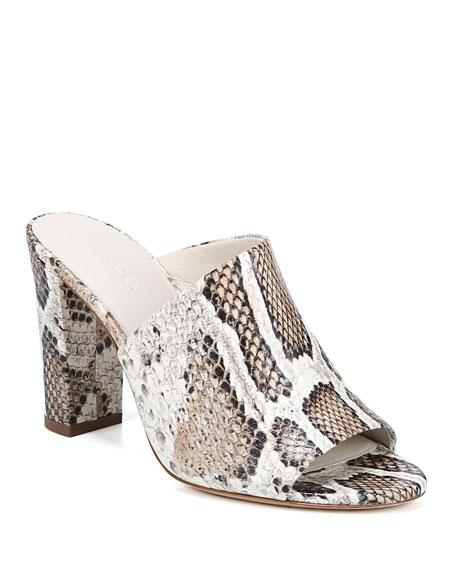 Vince Hanna Snake-Pint Mule Sandals