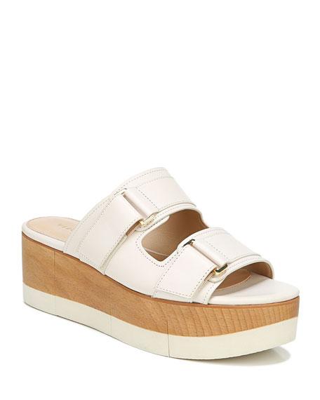 Veronica Beard Welda Platform Wedge Slide Sandals