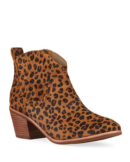 UGG Kingsburg Leopard-Print Ankle Booties
