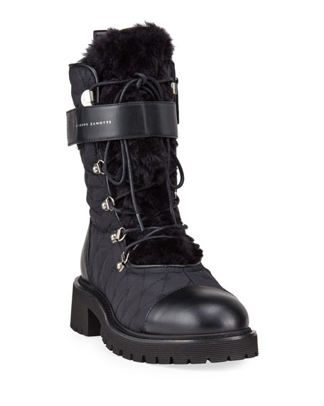 Giuseppe Zanotti Quilted Tall Winter Combat Booties