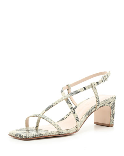 Kagenia Snake-Print Strappy Sandals