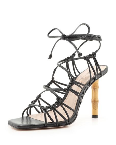 Schutz Saviana Ankle-Tie Sandals