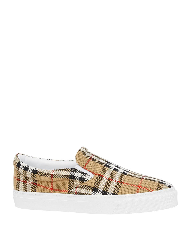 Thompson Vintage Check Slip-On Sneakers