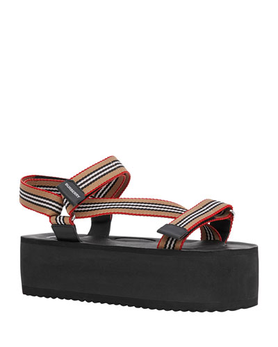 Patterson Striped Sport Sandals
