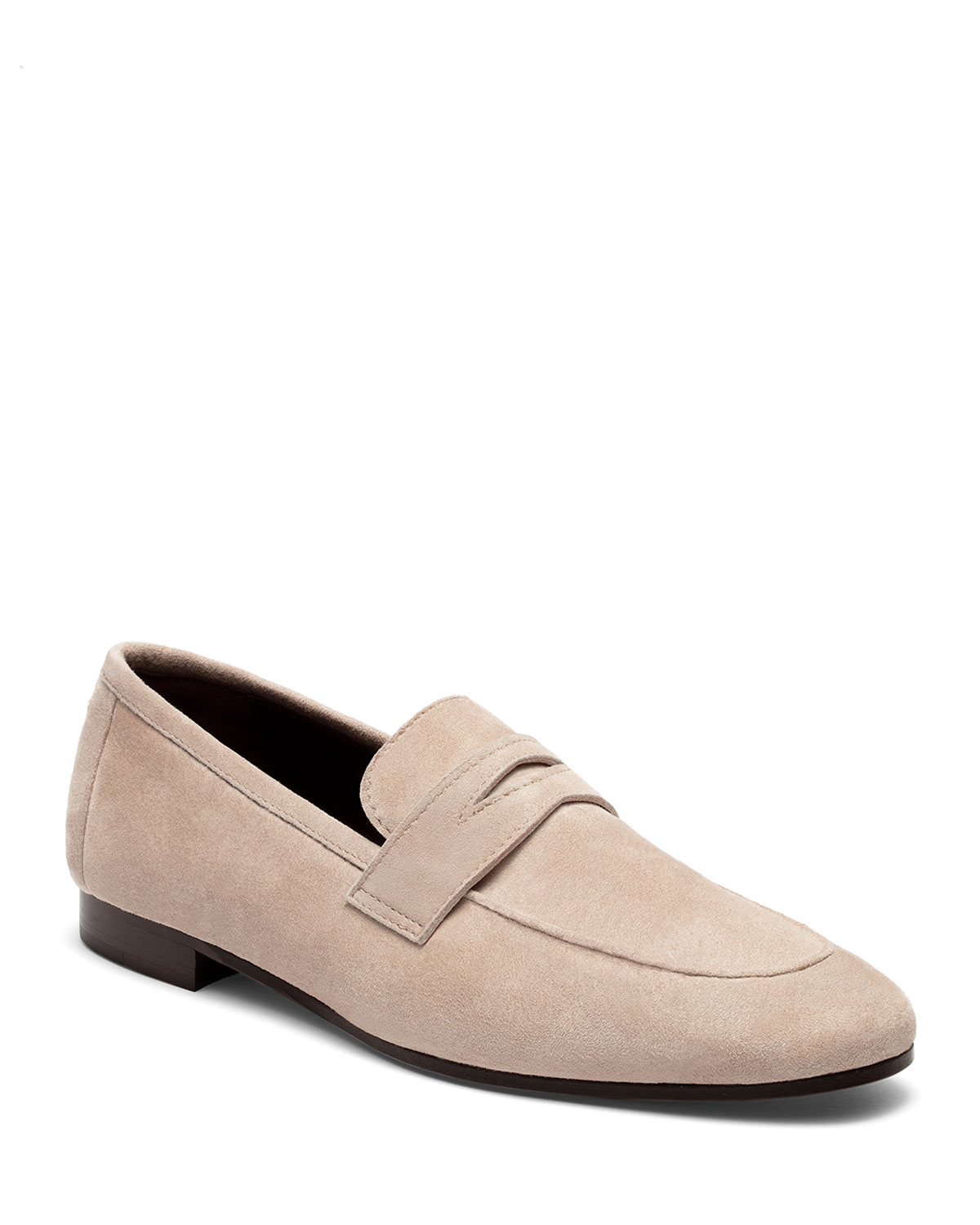 Flaneur Suede Flat Penny Loafers