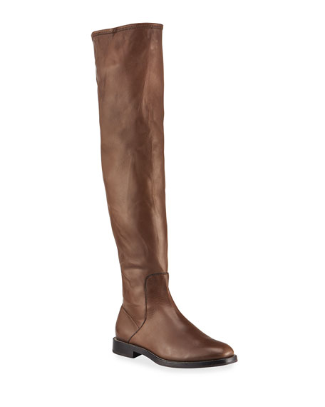 Brunello Cucinelli Leather Over-the-Knee Riding Boots