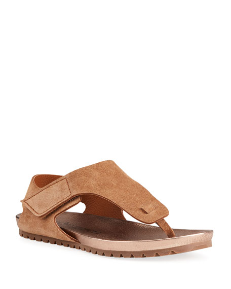 Pedro Garcia Jilbo Flat Suede Thong Sandals