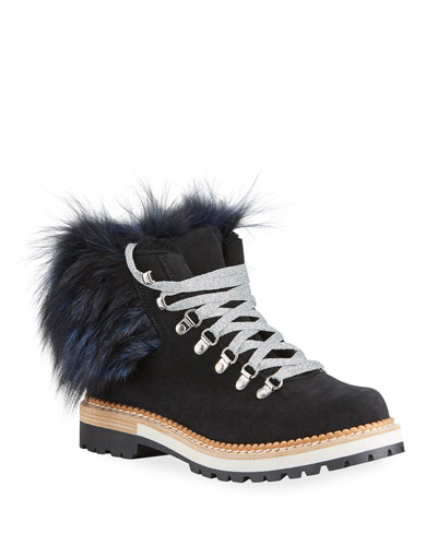 Clara Fox Fur Hiking Boots