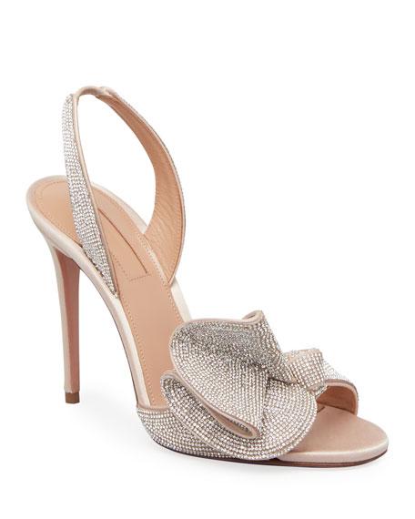 Aquazzura Cherry 105mm Crystal Sandals