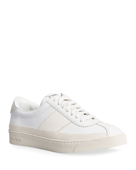 TOM FORD Bannister Leather Classic Court Court Sneakers