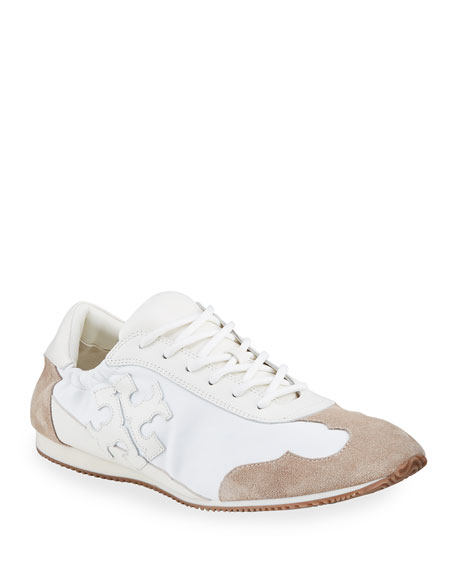 Tory Burch Tory Bicolor Mixed Leather Trainer Sneakers